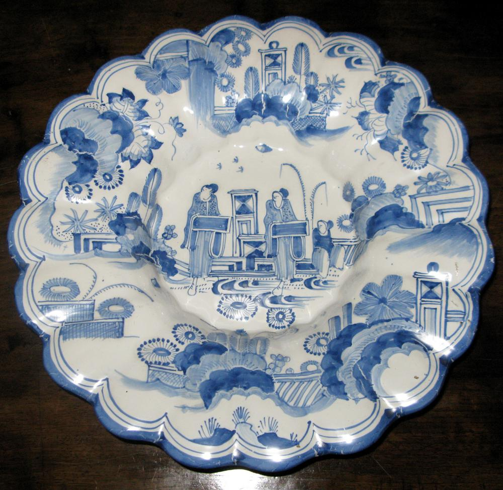 Large Scalloped Dish